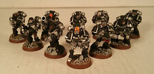 warhammer 40k Space Marine Iron Hands Tactical Squad painted figures 2