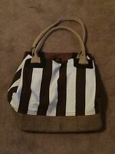 Avon Genuine Roots Tote Bag New In Package Abon Exclusive Brown/white