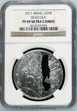 2011 Israel S2NS Dead Sea NGC PF69 UC Ultra Cameo Silver Coin