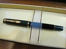 *PELIKAN* M240 FOUNTAIN PEN -BLACK WITH GREEN CAP -GOLD TRIM -NEW - STILOGRAFICA