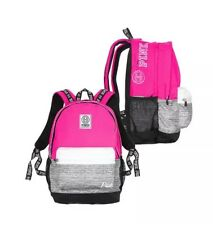 NWT Victorias Secret PINK Campus Backpack Book Bag Marl Gray Black