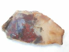 Stunning MOSS AGATE in CLEAR AGATE with CRYSTALS Small Rough Slab #J2010