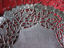 "12"" INCH ROUND SILVER FOIL PAPER LACE DOILY 10 PCS WEDDING PLACEMAT low cost"