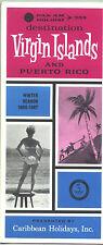 1966/67 Pan Am Virgin Islands/Puerto Rico Caribbean Holidays Travel Brochure