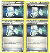 4x SUPER SCOOP UP 103/114 BLACK & WHITE POKEMON Uncommon Card MINT Free Shipping