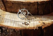 HARRY POTTER TIME TURNER SILVER SPINNING NECKLACE HERMIONE GRANGER