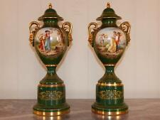 1880 Pair of Fine Quality Royal Vienna Covered Vases