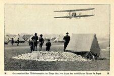 Amerikanischer Militäraeroplan der mobilisierten Armee Texas  Bilddokument 1912