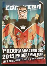 Comiccon Montreal 2015 Program