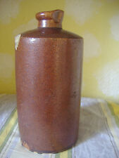 Antique salt~glazed, stoneware ink bottle/jar. Victorian.