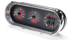 Dakota Digital 63 64 65 Chevy Nova Dash Analog Gauges Carbon Red VHX-63C-NOV-C-R