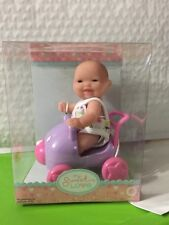 "HTF Vinyl Doll Berenguer Dolls 5"" Mini Babies playsets stroller NEW OUTFIT 2016"