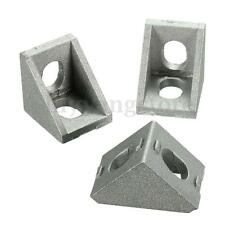 10PCS  Aluminium Corner Joint Right Angle Bracket Grey 20mm Furniture Fittings