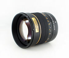 Rokinon 85mm F1.4 Aspherical Lens for Canon EOS Digital SLR -85M-C - Gold Ring
