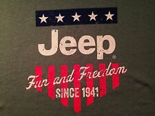 VINTAGE JEEP FUN AND FREEDOM SINCE 1941 T SHIRT LARGE