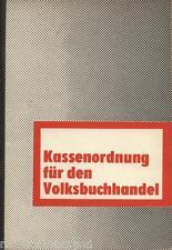 H.Hünich KASSENORDNUNG für den VOLKSBUCHHANDEL Buchhandel Buchhändler in der DDR