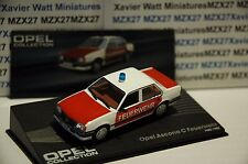 VOITURE OPEL COLLECTION N°104 OPEL ASCONA C FEUERWEHR 1982 IXO EAGLE MOSS 1/43