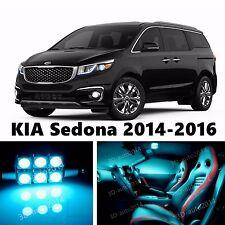 14pcs LED ICE Blue Light Interior Package Kit for KIA Sedona 2014-2016
