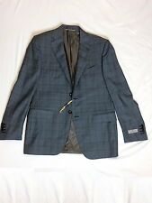 $2699 Canali 1934 Exclusive Super 150 Wool Sport Coat Blazer Gray Windowpane 38R