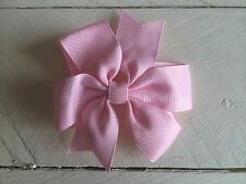 Baby Pink Bow Hair Clip Flower Girl Bridesmaid Wedding Ballet Party
