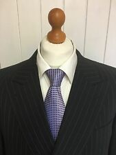 """Mens LUXURY CANALI """"ITALIAN"""" WOOL SUIT In CHARCOAL PINSTRIPE 44R *EX-CON*"""