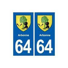 64 Arbonne blason autocollant plaque stickers ville droits