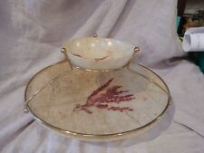 Vintage Feather Design Chip and Dip Bowl Acrylic