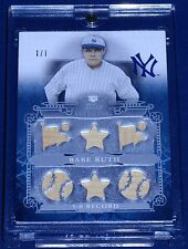 24  Babe Ruth Game Worn/Used  Single/Dual/Triple/7 piece Jersey/Bat ALL TRUE 1/1