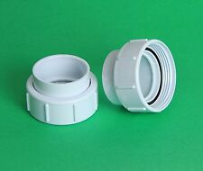 """Hot Tub Spa Pump Union Coupling Fittings 3"""" Threaded for 2"""" pvc pipe size PAIR"""