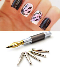 6Pcs/set Nail Art Dot Dotting Pen Nail Drawing Painting Tips Manicure Tool DIY