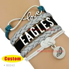 Philadelphia Eagles Infinity Bracelet Football Charm Bracelet NFL US SELLER  *