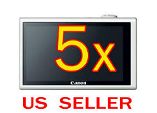 5x Canon PowerShot ELPH 320HS Camera LCD Screen Protector Guard Cover Film
