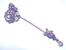 MID CENTURY Beautiful VINTAGE Faux Pearl MIRIAM HASKELL STICK PIN