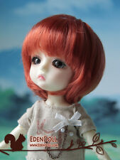 "[EDEN] 5~6"" Carrot Red bob doll wig for LATI Yellow 1/8 14cm"