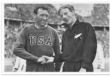 WWII GERMAN- Large 36 OLYMPIC Photo Image- Sport- Glen Cunningham- Jack Lovelock