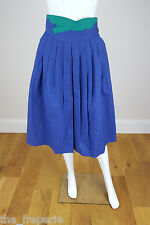 *GUCCI* VINTAGE BLUE COTTON SKIRT 40