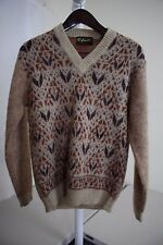 Kinson Mohair & Wool Blend Multi-Colored V-Neck Sweater Size - Large