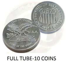 10-1 OUNCE TITANIUM COINS LAND OF THE FREE .999 PURE TITANIUM ROUNDS MADE IN USA