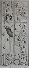 HETREAU REMY : Gravure originale signée. Carte de vœux , envoi autographe. Dimen