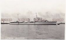 """Royal Canadian Navy Real Photo RPPC. HMS """"Saguenay"""" River-class destroyer. 1931"""