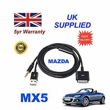 MAZDA mx5 c860-v6-572b per Apple 3gs 4 4s IPHONE IPOD USB CAVO AUX & 3.5mm