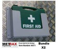 2x First Aid Kit + Holder Van shelving Garage shed workshop Health & safety 1-10