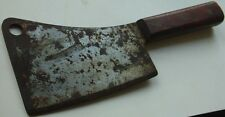 Vtg Warranted USA Made Smaller Meat Cleaver Makers Name in Sword