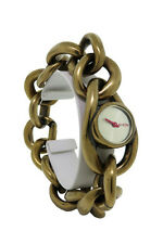 Nixon A161 472 Alice Women's Antiqued Gold Tone Bangle Analog Watch