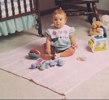 Crochet Pattern ~ BABY PLAY & NAP MAT Blanket Afghan ~ Instructions