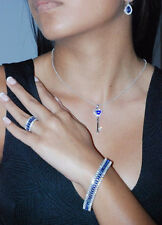 Stunning Tanzanite Marquises Bracelet ..925 Sterling Silver.