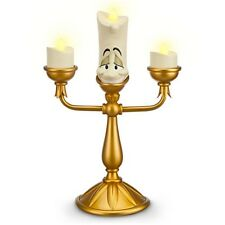 "Disney Parks Beauty and the Beast 11"" LUMIERE Light-Up Candlestick Figurine"