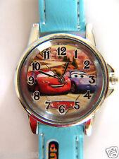 Uurwerk Disney  Pixar Cars, licht blauwe armband met print Ø 30 mm L = 21 cm