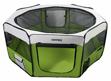 "62"" Portable Puppy Pet Dog Soft Tent Playpen Folding Crate Pen New - Lime Green"