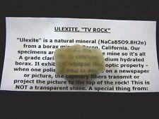 (R35-41) Ulexite GEM gemstone Mineral TV rock Boron California display specimen